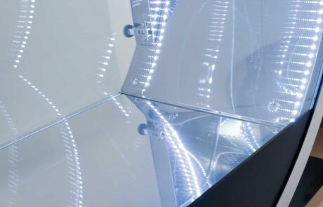 vetrine design emmedi in acciaio inox